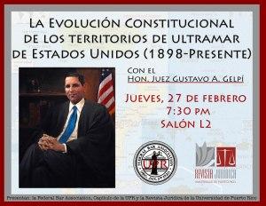 Juez Gelpí dictará conferencia de la evolución constitucional de los territorios de ultramar de EEUU